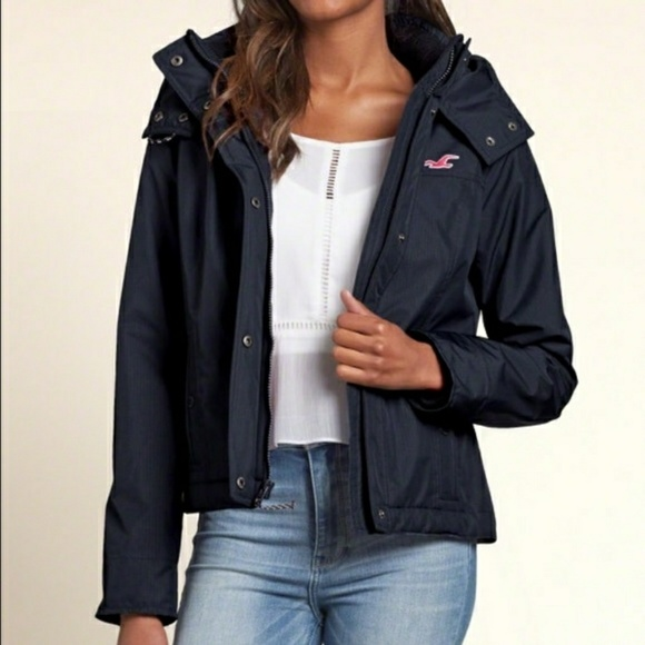 Hollister All Weather Jacket Women Navy